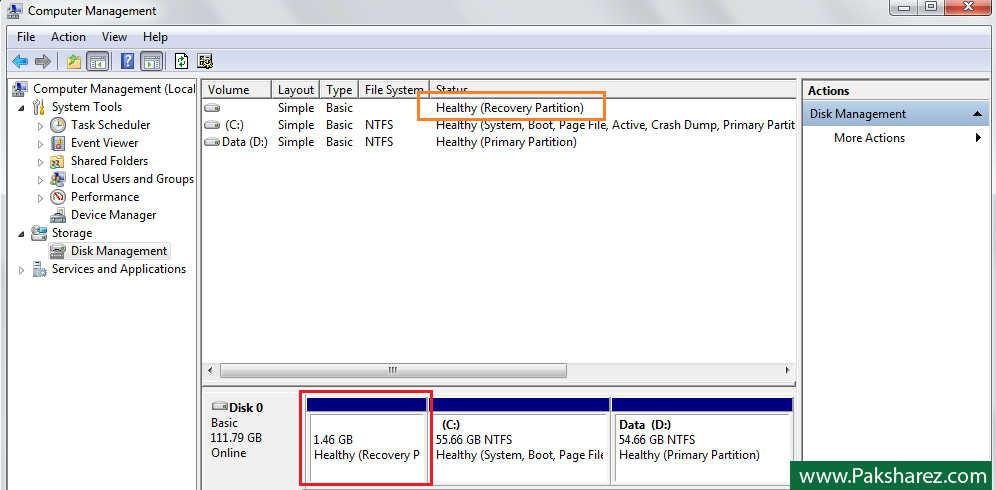 Toshiba Hidden Recovery Partition